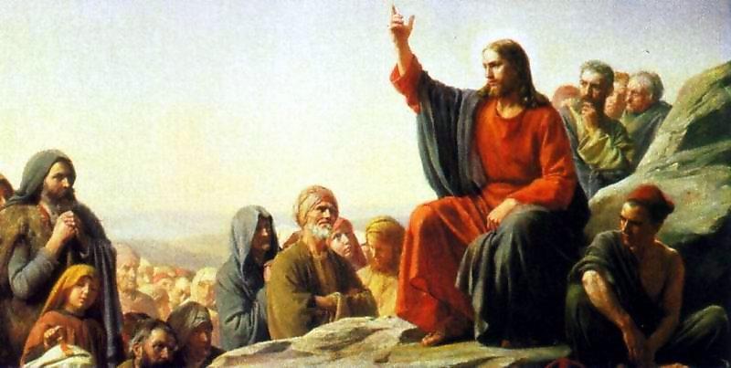 Jesús con sus seguidores