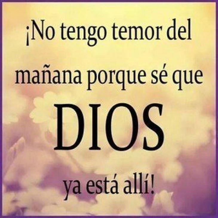 Dios no hay temor