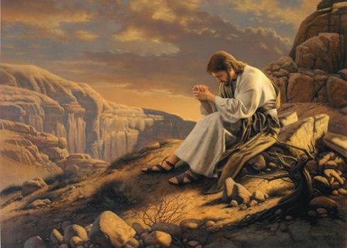 jesus orando en el huerto imagen