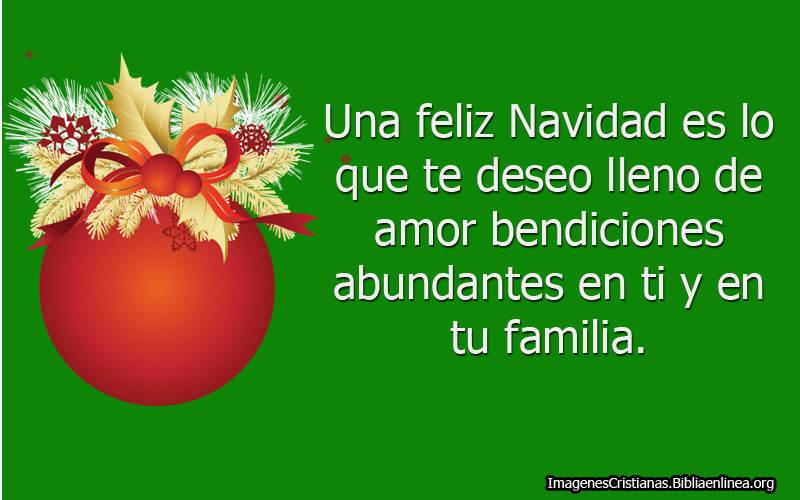 Feliz navidad te deseo
