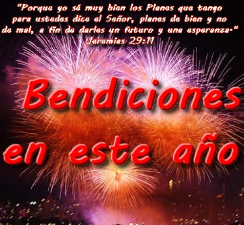 bendiciones en este año