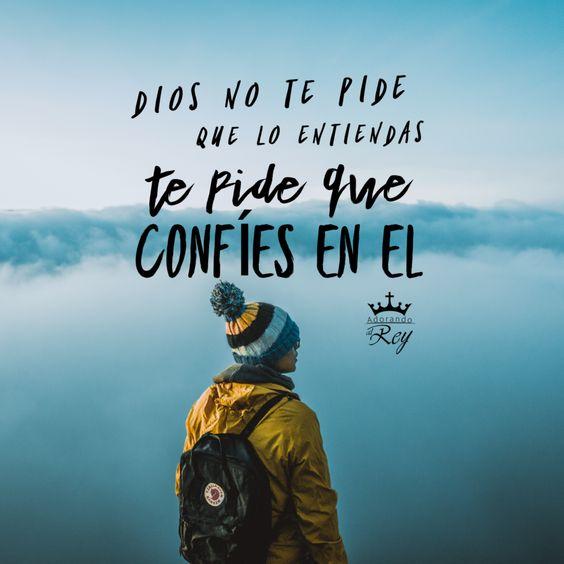 Dios quiere que confies en él