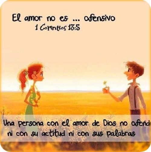 El amor no es ofensivo versículo