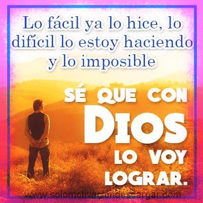 Dios va contigo paso a paso