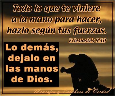 Déjalo en las manos de Dios