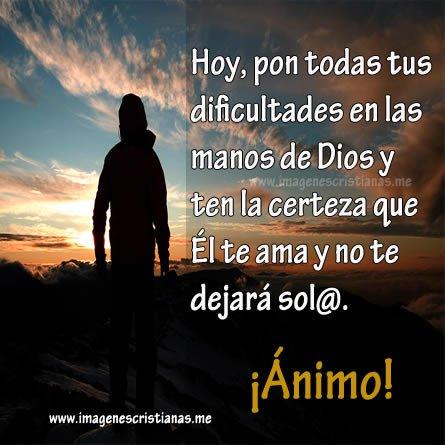 Pon tus problemas en Dios
