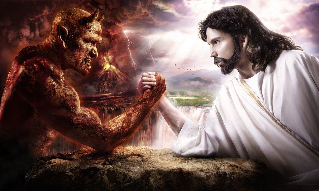pulso entre Jesús y el Diablo