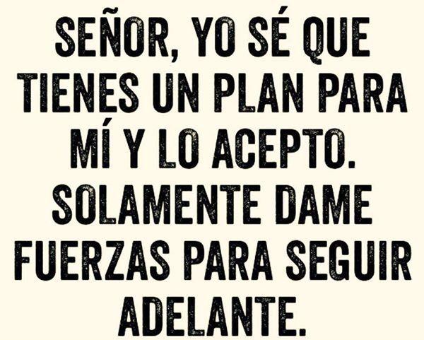 Yo se que tu tienes un plan para mi vida