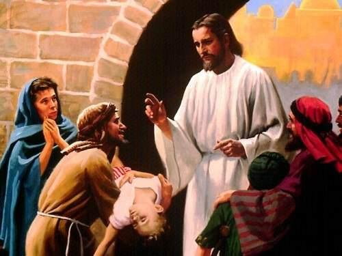 Jesús sana a la hija de