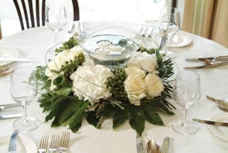 Arreglos florales para santa cena