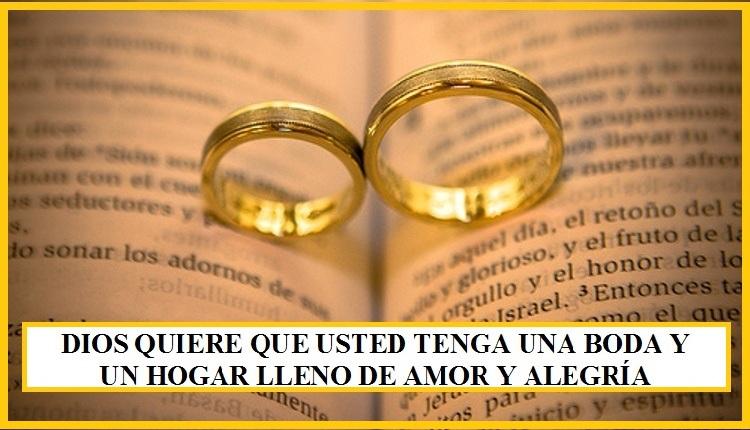 Dios quiere que te cases