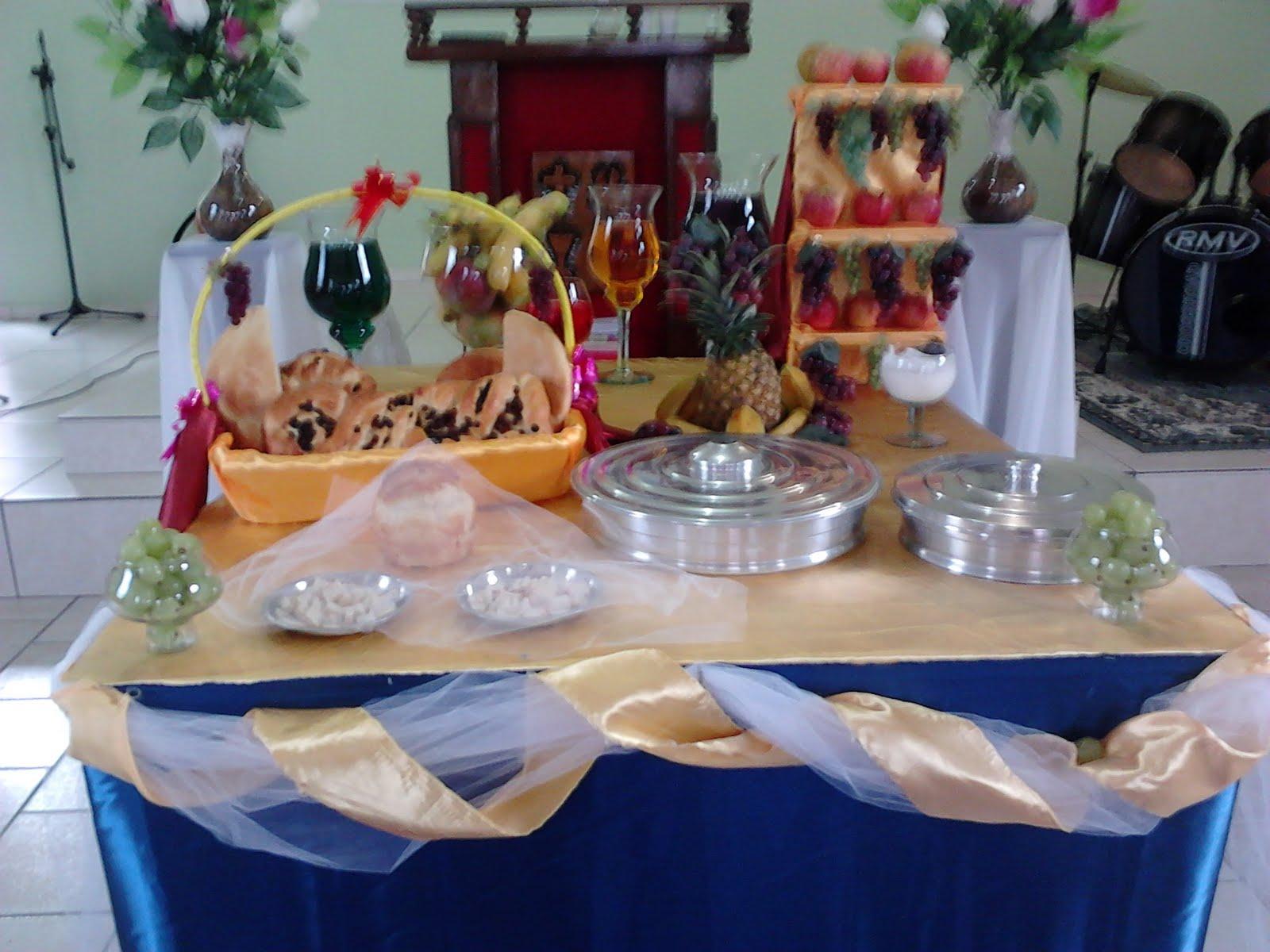 mesas para la cena del señor