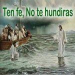 No te hunduras, Pedro y Jesús