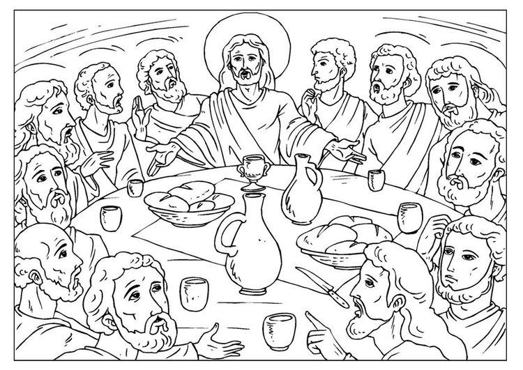 dibujos para Santa cena