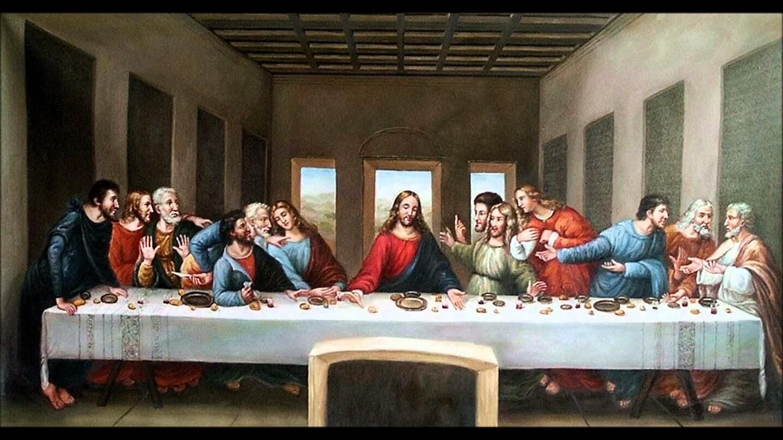 Jesús y discípulos ultima cena