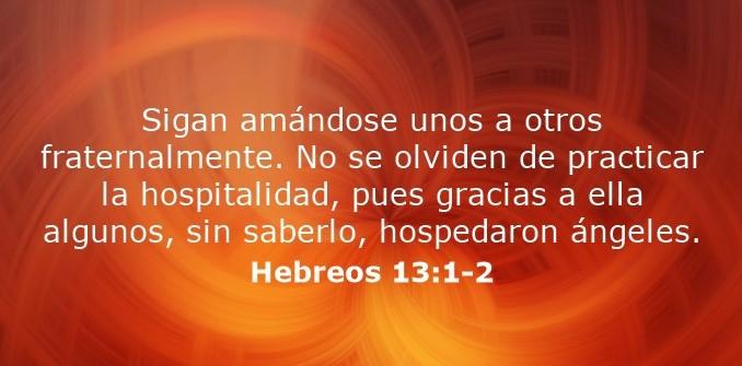 Hebreos 13:1-2