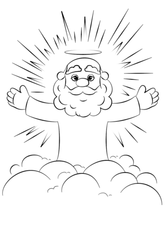Dibujo para colorear de Dios