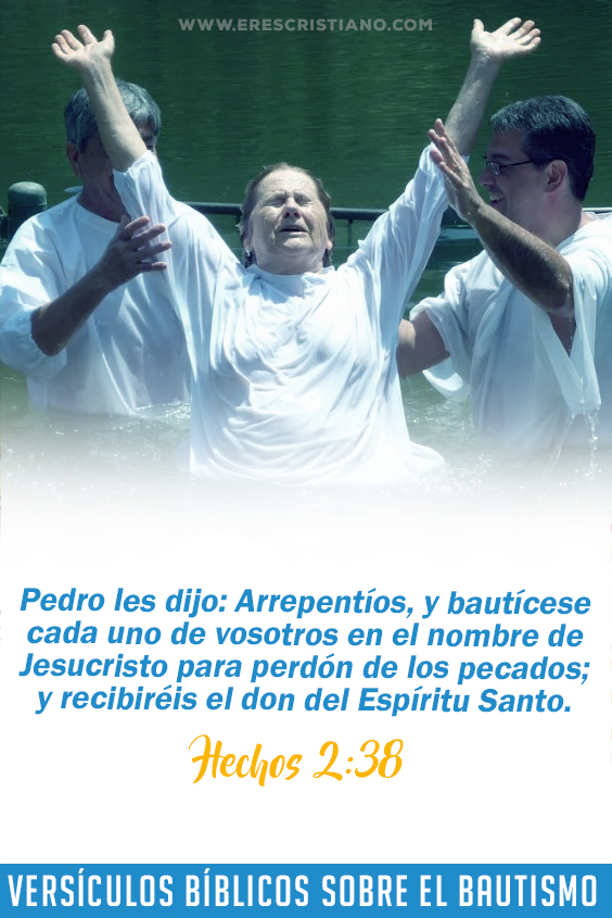 bautismo en agua versiculos