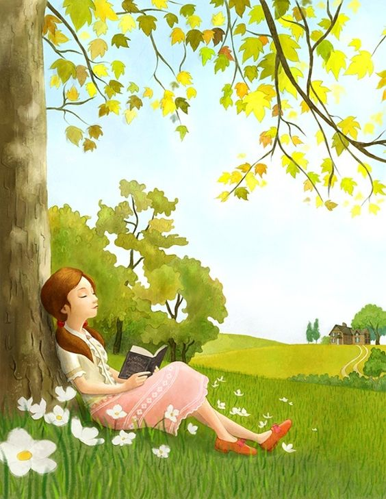 leyendo bajo el arbol