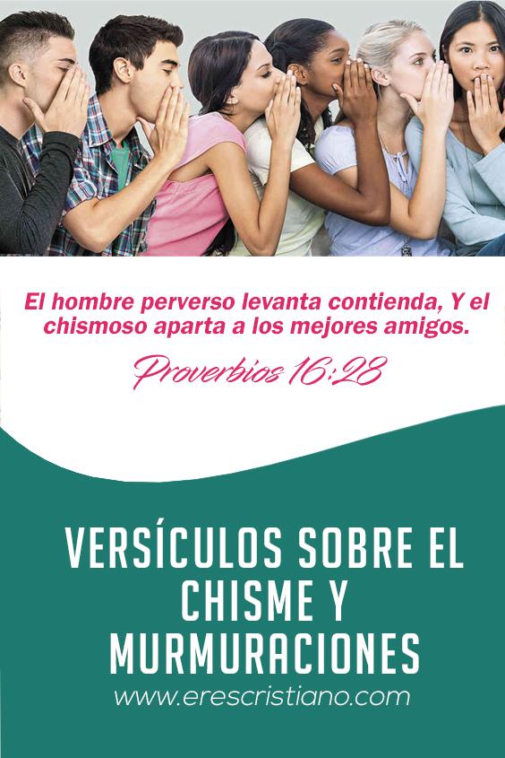chisme, versículos
