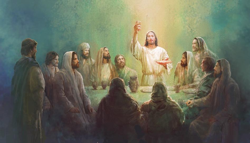 jesus en santa cena