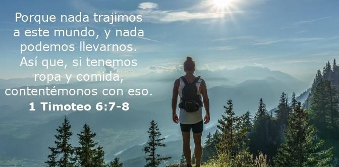 1 Timoteo 6:7-8