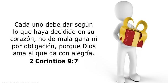 Corintios 9:7