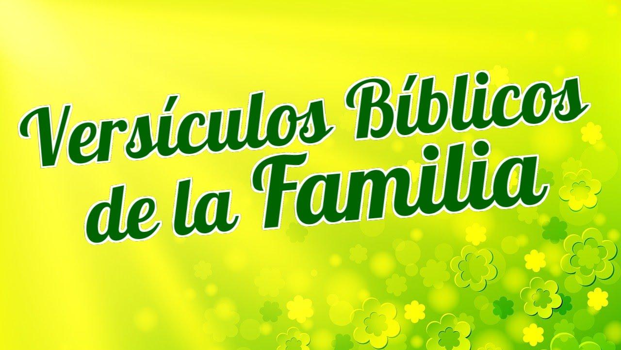 citas bíblicas de la familia