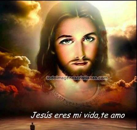 Rostro de Jesús en el cielo