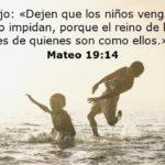 Mateo 19:14