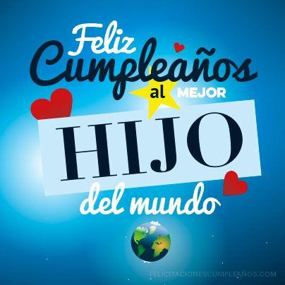Feliz cumpleaños hijo