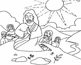 Jesús orando en compañía