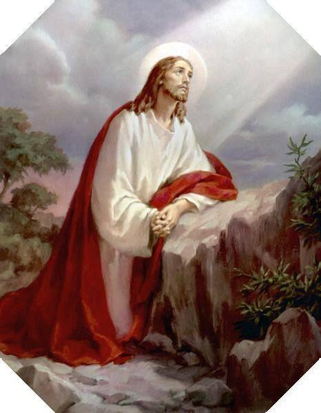 Jesús le ora a Dios