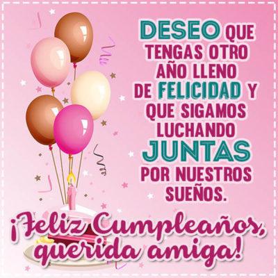 Feliz cumpleaños querida amiga