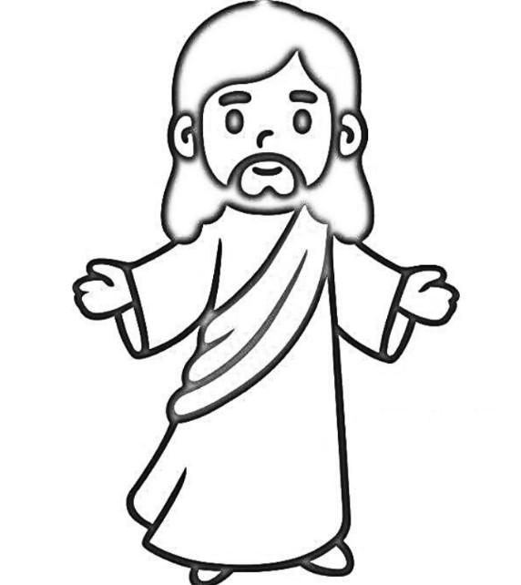descargar dibujo de jesus