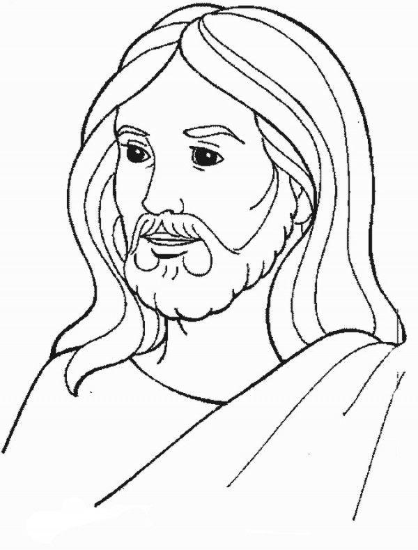 Rosto de jesús dibujo