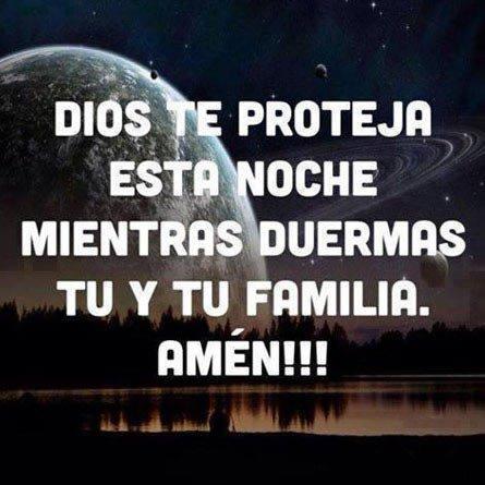 Dios te proteja esta noche