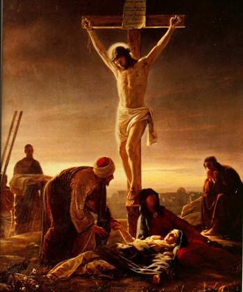 Jesús muerto en la cruz