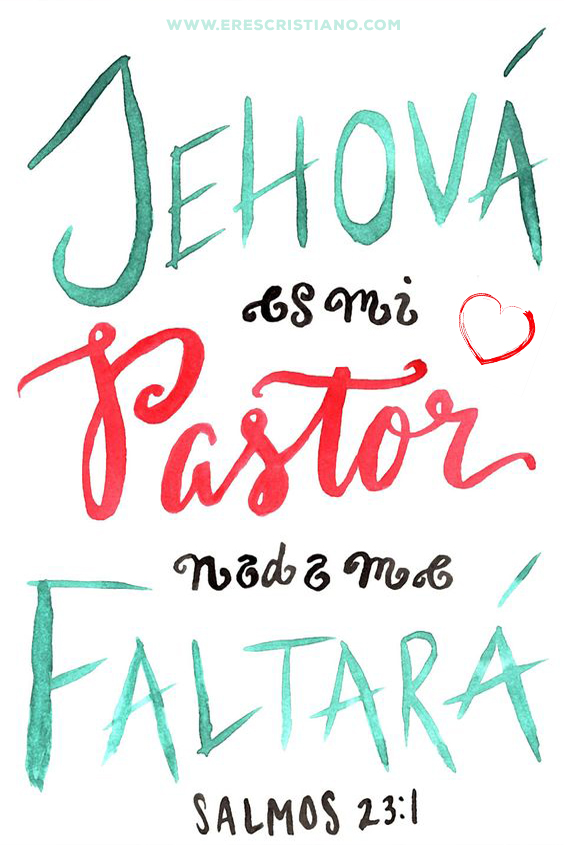 jehová es mi pastor, versiculo