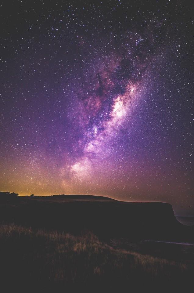 universo en la noche