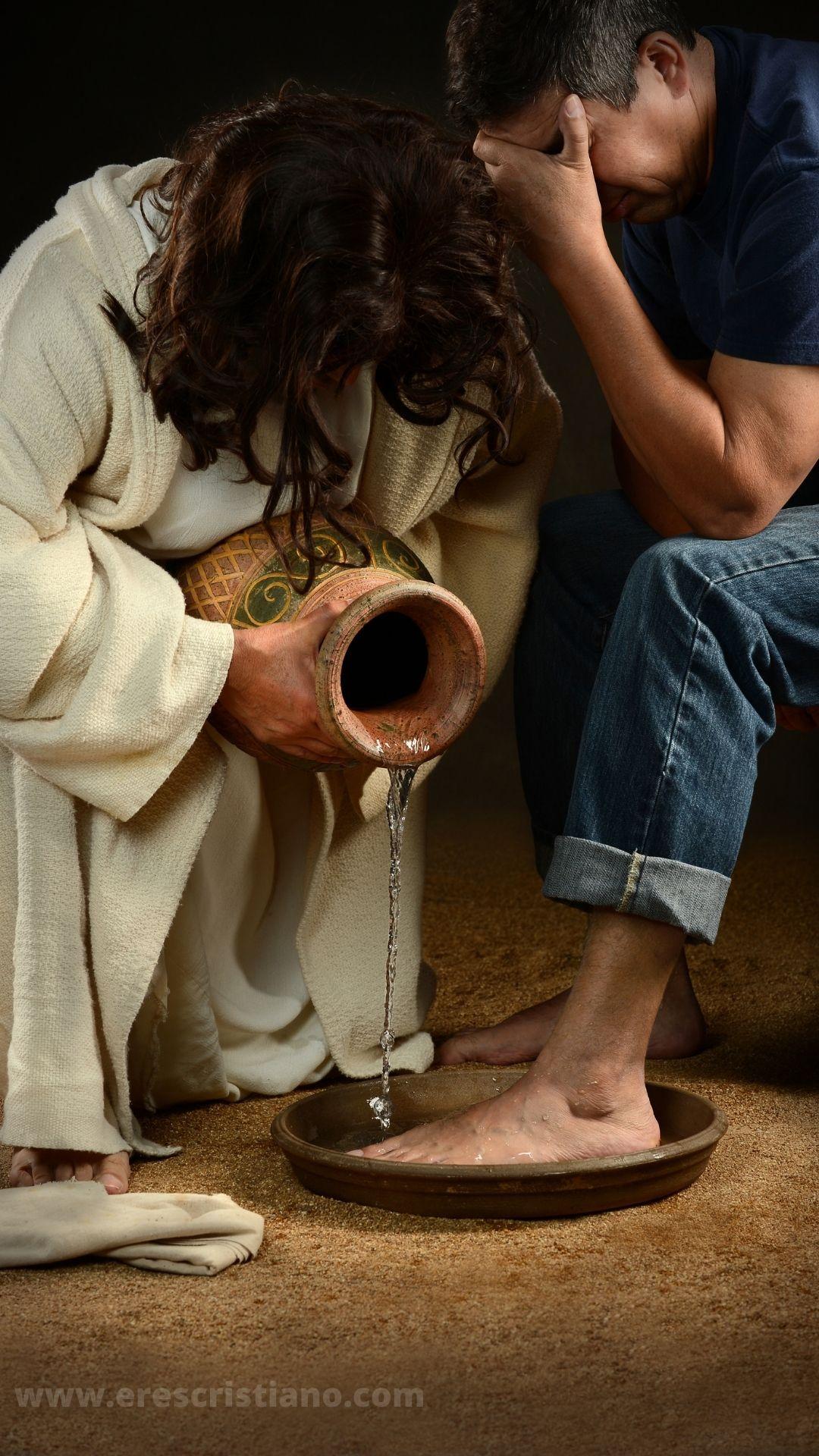 Jesús lavando los pies