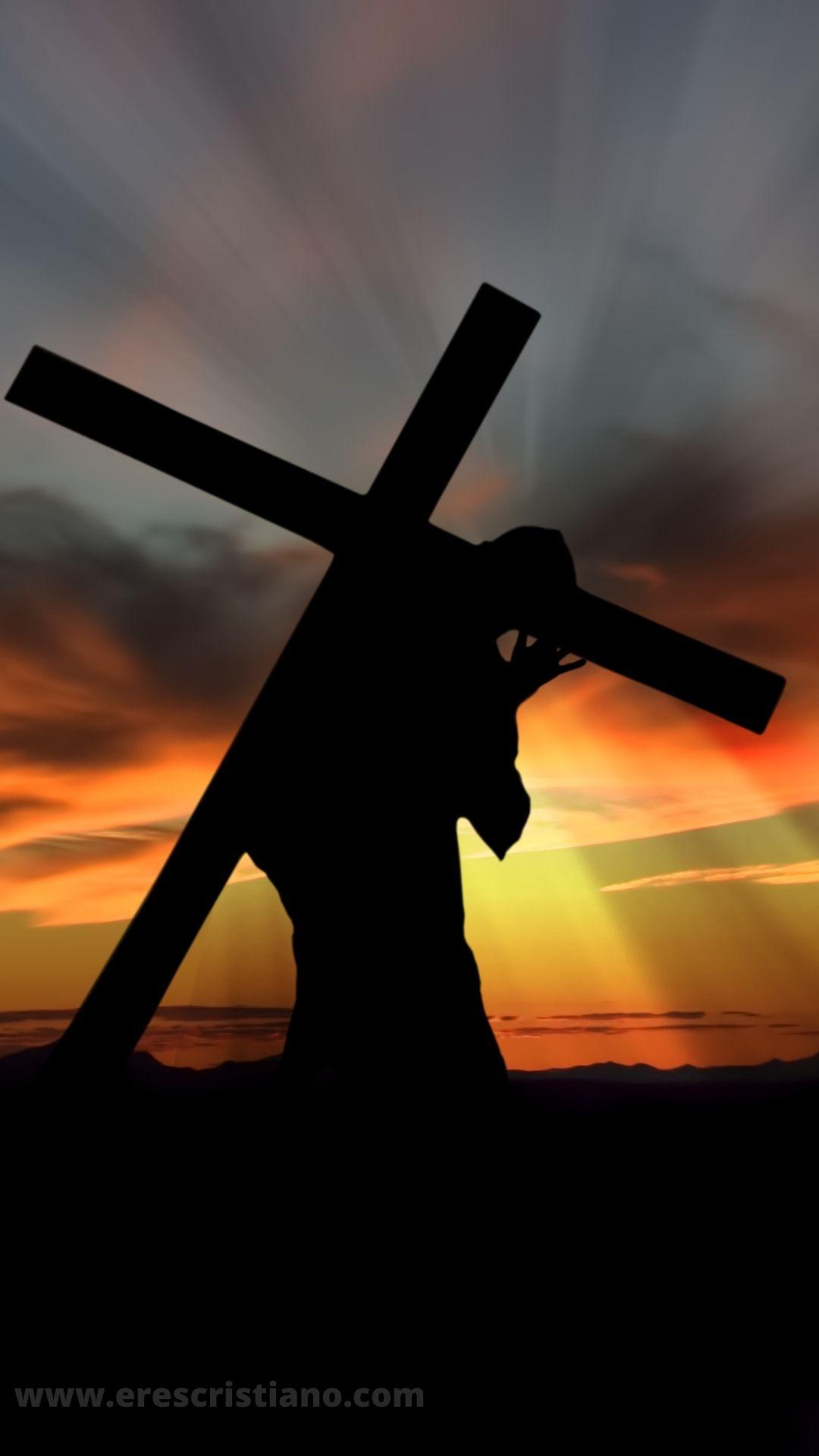 fondos de Jesús y la cruz