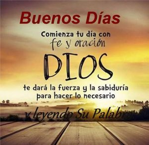 La fe puesta en Dios