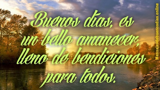 Te deseo muchas bendiciones