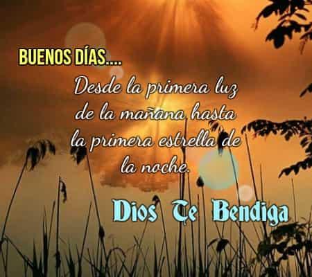 Buen día, Dios está contigo