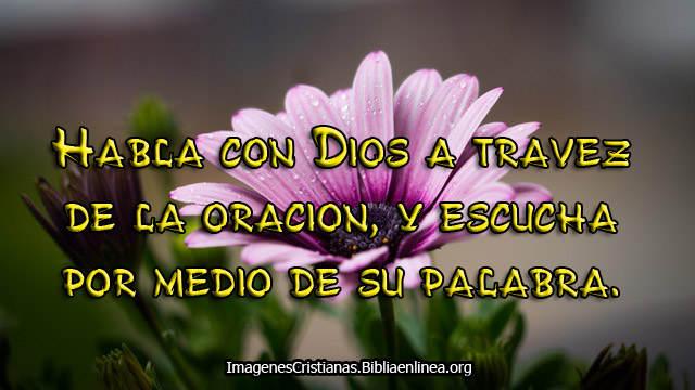 Habla con Dios hoy