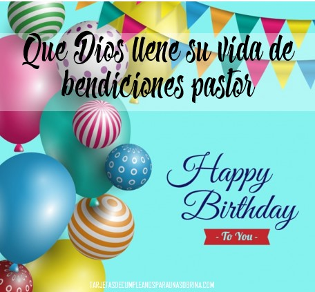 Feliz cumpleaños pastor
