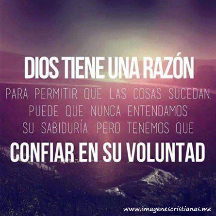 Dios sabe lo que hace