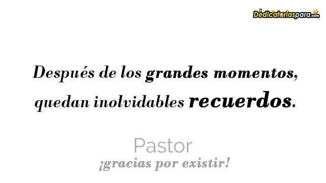 Gracias pastor