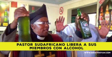 pastor que bebe alcohol